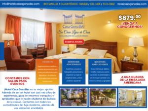 CG anuncio noviembre, Hotel Casa Gonzalez